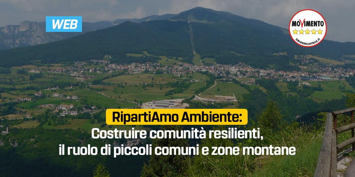 Costruire comunità resilienti, il ruolo di piccoli comuni e zone montane