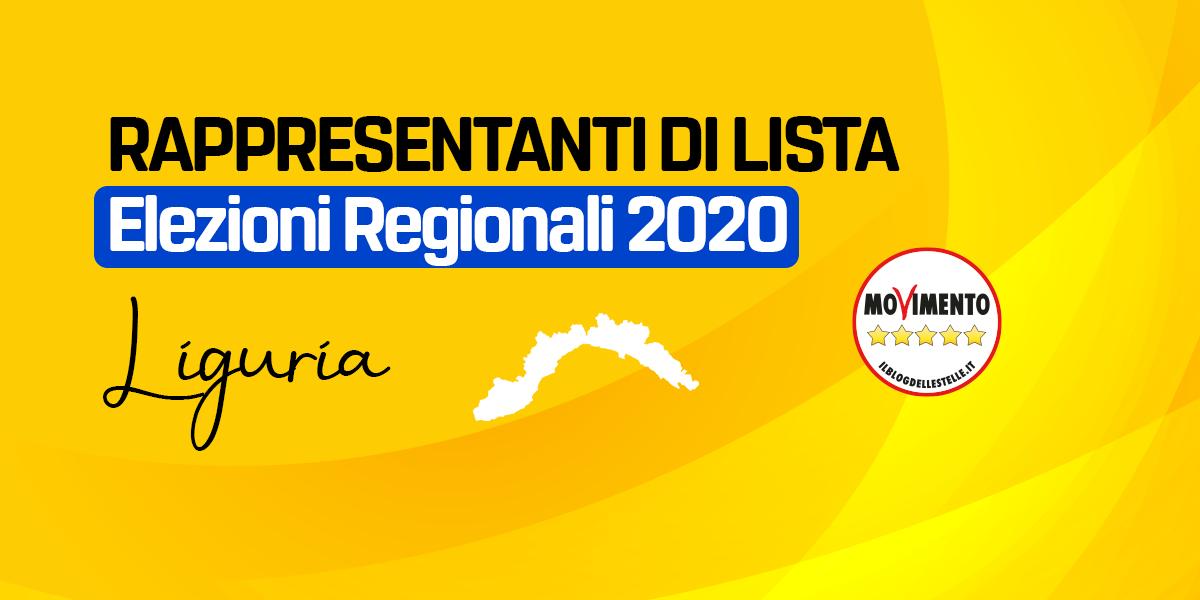 RDL LIGURIA - REGIONALI 2020
