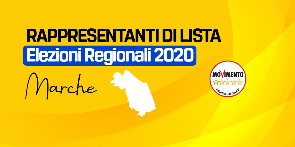 RDL MARCHE - ELEZIONI REGIONALI 2020