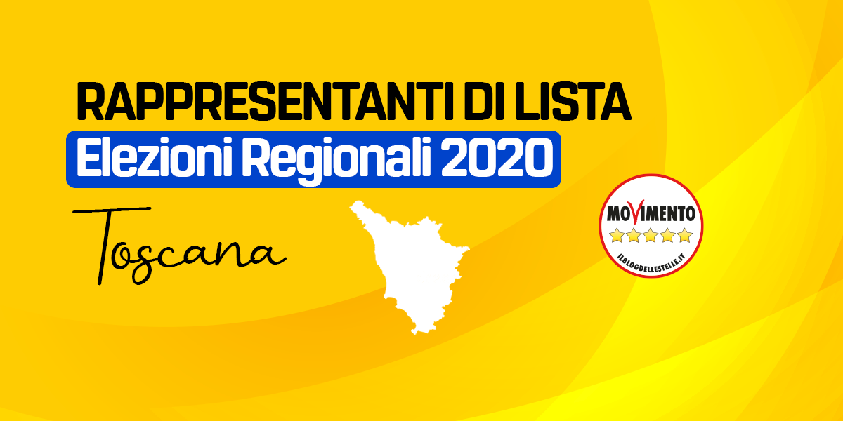 RDL TOSCANA - REGIONALI 2020