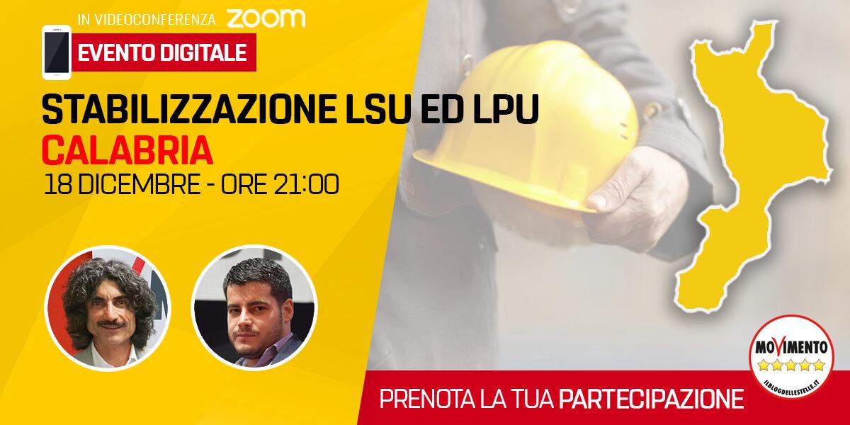 Stabilizzazione LSU ed LPU Calabria