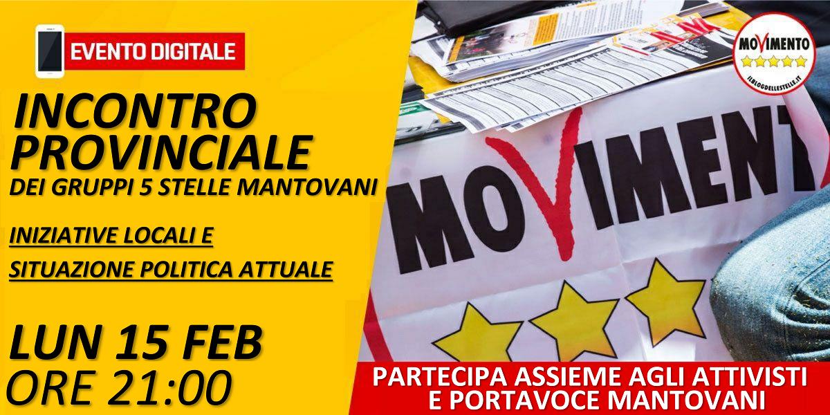 Incontro provinciale dei Gruppi 5 Stelle Mantovani