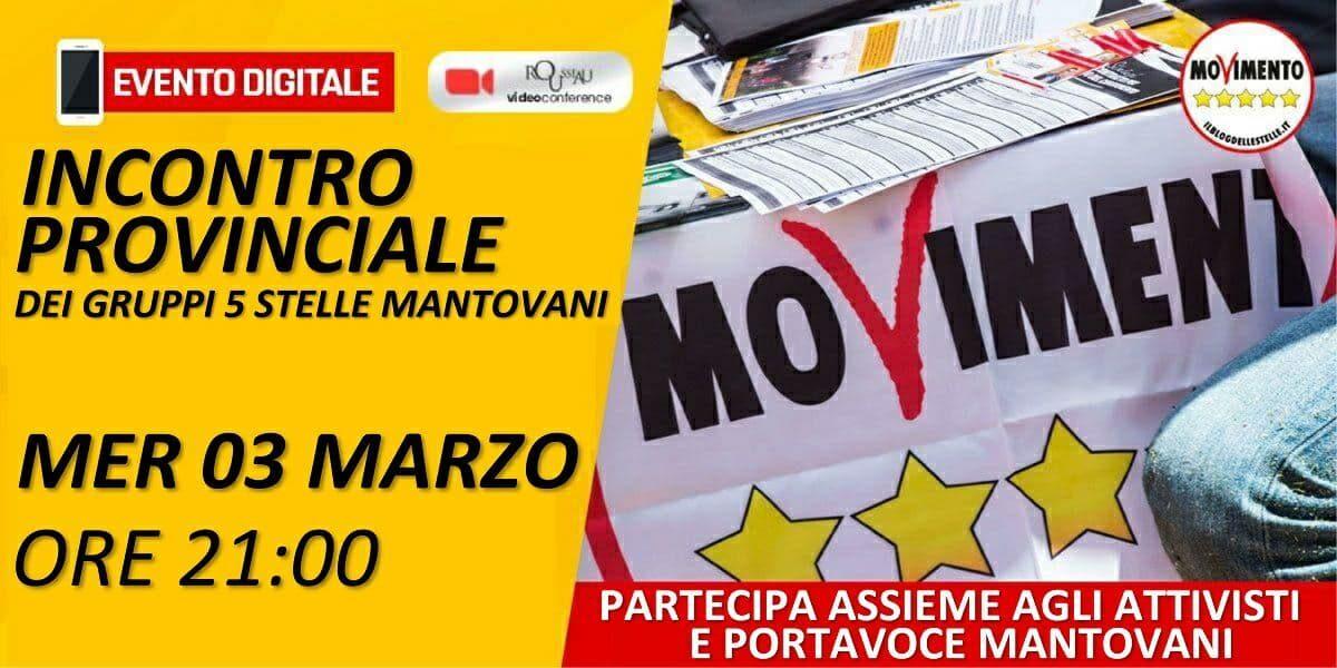Riunione Provinciale dei Gruppi 5 Stelle Mantovani