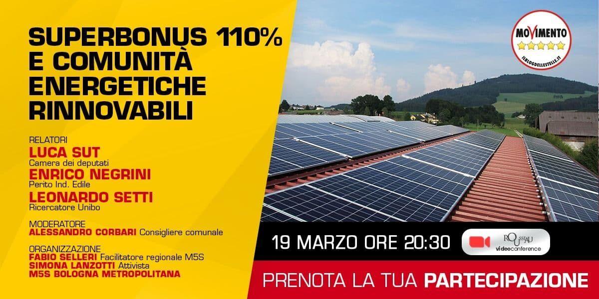 Superbonus 110% e comunità energetiche rinnovabili